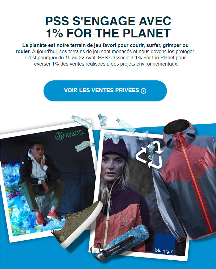PSS | 1 % For the Planet: Du 15 au 22 Avril 2019